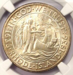 1936 RHODE ISLAND HALF DOLLAR 50C   NGC MS67    IN MS67   $990 VALUE