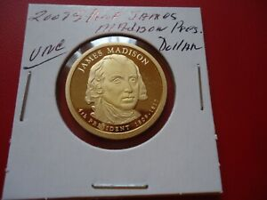 2007 S  PROOF UNCIRCULATED   JAMES MADISON PRESIDENTIAL DOLLAR COIN