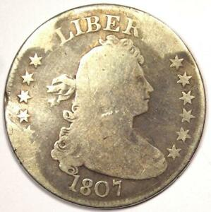 1807 DRAPED BUST QUARTER 25C   AG / GOOD DETAIL  DAMAGE     EARLY DATE COIN