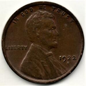 1922 D CIRCULATED WHEAT PENNY   KEY DATE   PRE CUD ON REVERSE IN THREE PLACES