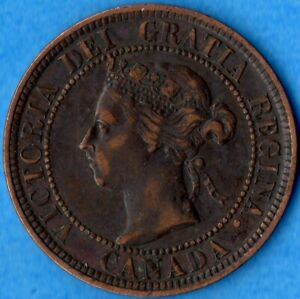 CANADA 1898 H 1 CENT ONE LARGE CENT COIN   EF