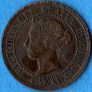 CANADA 1898 H 1 CENT ONE LARGE CENT COIN   DAMAGED RIM