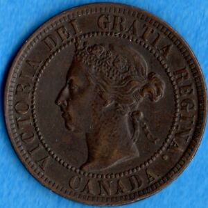 CANADA 1900 1 CENT ONE LARGE CENT COIN   NICE EF