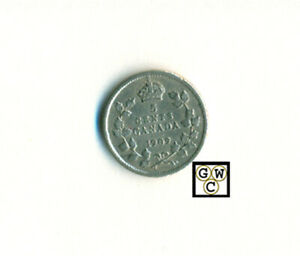 CANADA 1909  5CENTS COIN; ROUND LEAVES ; XF