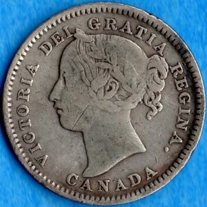 CANADA 1896 10 CENTS TEN CENT SILVER COIN   GOOD