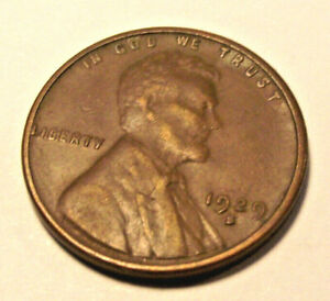 1929S LINCOLN WHEAT CENT  LOT MP77     VF   SEE PHOTOS