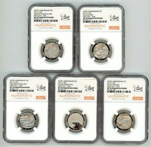 2017 S QUARTERS 25C SET 225TH ANNIV. NGC SP 70 ENHANCED FINISH FIRST DAY ANA 472