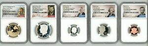 2019 SILVER PROOF SET 5 COIN SET MINORS NGC PF 69 FIRST RELEASES 4968467 036