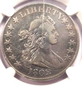 1802 DRAPED BUST HALF DOLLAR 50C COIN   CERTIFIED NGC VF DETAILS    DATE