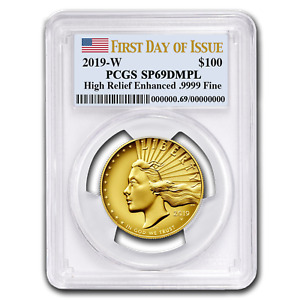 Click now to see the BUY IT NOW Price! 2019 W HIGH RELIEF AMERICAN LIBERTY GOLD SP 69 DMPL PCGS  FD    SKU199042