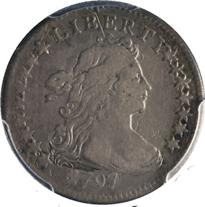 1797 BUST DIME PCGS VF DETAILS 16 STARS NICE EYE APPEAL