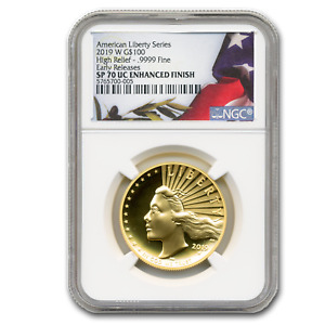 Click now to see the BUY IT NOW Price! 2019 W HIGH RELIEF LIBERTY GOLD SP 70 ULTRA CAMEO NGC  ER    SKU199905