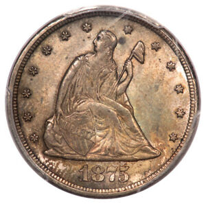 Click now to see the BUY IT NOW Price! 1875 CC 20C TWENTY CENT PCGS MS64