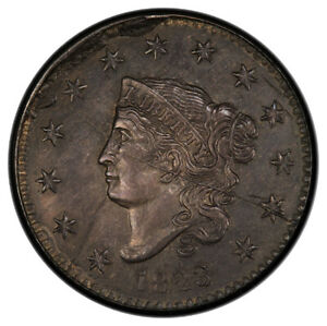 Click now to see the BUY IT NOW Price! 1823 1C PRIVATE RESTRIKE SILVER PRIVATE RESTRIKE   SILVER CORONET HEAD CENT P