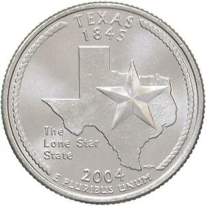 2004 D STATE QUARTER TEXAS GEM BU CN CLAD US COIN