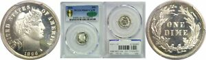 Click now to see the BUY IT NOW Price! 1896 BARBER DIME PCGS PR 66  CAM CAC