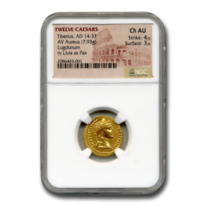 Click now to see the BUY IT NOW Price! ROME AV AUREUS EMP TIBERIUS  14 37 AD  CH AU NGC  TRIBUTE PENNY    SKU200363