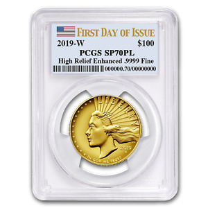 Click now to see the BUY IT NOW Price! 2019 HIGH RELIEF AMERICAN LIBERTY GOLD SP 70 PL PCGS  FD    SKU198523