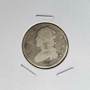 1837 CAPPED BUST QUARTER  TYPE 2   GOOD DETAIL  SCRATCHED