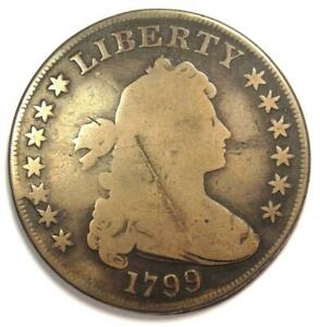 1799 DRAPED BUST SILVER DOLLAR $1 BB 155   GOOD DETAILS    TYPE COIN