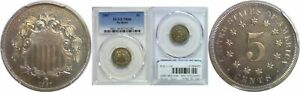 Click now to see the BUY IT NOW Price! 1867 NO RAYS SHIELD NICKEL PCGS PR 66