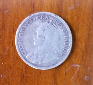 1919 CANADIAN DIME SILVER 10 CENTS