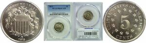 1872 SHIELD NICKEL PCGS PR 66 CAM