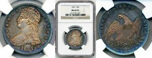 1837 CAPPED BUST REEDED EDGE HALF DOLLAR MS66PL NGC  BL4801