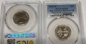 Click now to see the BUY IT NOW Price! 2019 W 25C TEXAS SAN ANTONIO MISSIONS WEST POINT PCGS 1ST WEEK DISCOVERY   MS68