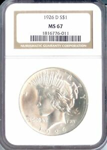 Click now to see the BUY IT NOW Price! 1926 D PEACE DOLLAR MS67 NGC  PA1816776011