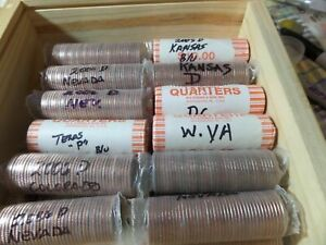 UNCIRCULATED HALF ROLL  20  OF STATE ERROR QUARTERS                          3D