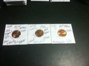 MINT ERROR VARIETY LINCOLN PENNIES GREAT VALUE T2X3