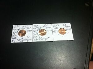 MINT ERROR VARIETY LINCOLN PENNIES GREAT VALUE T22X3