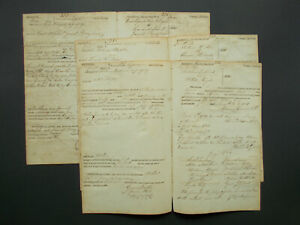 7X GEORGIA SHERIFF DEBT OBLIGATIONS DATED 1821   SEVEN DOUBLE SHEETS   VF