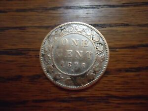 CANADA  1876 H  ONE CEMT LARGE COIN  COPPER