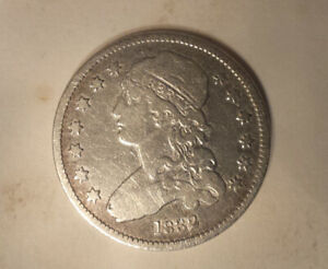 1832 CAPPED BUST QUARTER  CIRCULATED VG  CLEANED