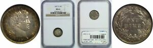 1897 S BARBER DIME NGC MS 61
