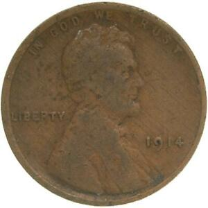 1914 LINCOLN WHEAT CENT GOOD PENNY VG