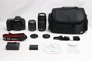 CANON EOS 5D MARK II 21.1 MP DIGITAL SLR CAMERA EXCELLENT TWO CANON LENSES   BAG