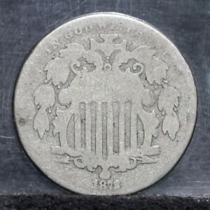 1872 SHIELD NICKEL   AG  26936