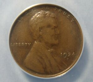 1924 D LINCOLN CENT   ORIGINAL & NICE  ANACS F 15