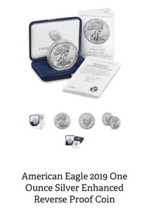 Click now to see the BUY IT NOW Price! AMERICAN EAGLE 2019 ONE OUNCE SILVER ENHANCED REVERSE PROOF COIN