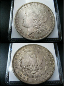 1896 P MORGAN SILVER DOLLAR CHOICE AU COIN   NICE ORIGINAL TONED