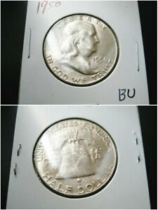 1956   BETTER DATE   FRANKLIN HALF DOLLAR CHOICE UNC BU COIN TONED