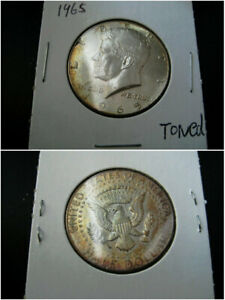 1965 KENNEDY HALF DOLLAR CHOICE UNC BU COIN  NICE ORIGINAL TONED
