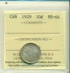 Click now to see the BUY IT NOW Price! ICCS CANADA 1929 10 CENTS MS 64 XDU 776
