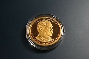 2012 S CHESTER ARTHUR PRESIDENTIAL  PROOF  DOLLAR    IN CAPSULE
