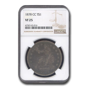 1878 CC TRADE DOLLAR VF 25 NGC   SKU203962