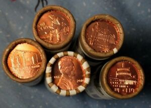 LP SET OF PENNIES    10 COINS TOTAL OUT OF MINT ROLLS