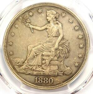 1880 PROOF TRADE SILVER DOLLAR T$1   CERTIFIED PCGS PROOF AU DETAILS  PR/PF